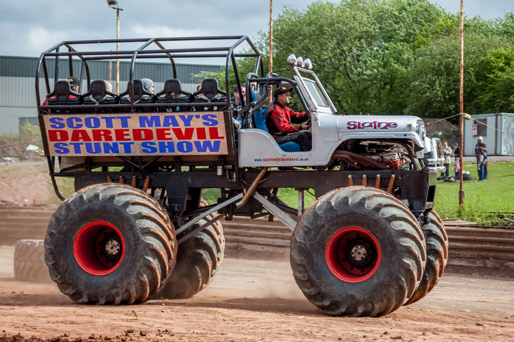 Slaine Monster Truck Scott May S Daredevil Stunt Show