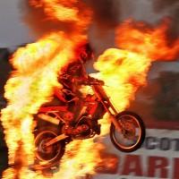 Bike Fire Jump