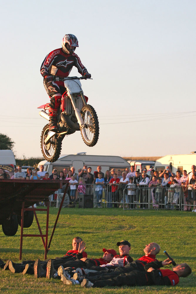 Motorcycle Jumps: Scott May's Daredevil Stunt Show